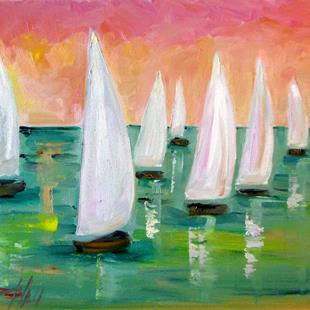 Art: Sea of Sails No.2 by Artist Delilah Smith