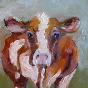 Art: Cow No 14 by Artist Delilah Smith