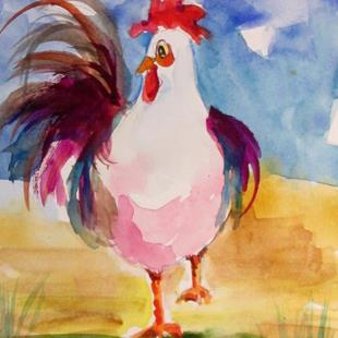 Art: Rooster No 51 by Artist Delilah Smith
