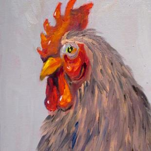 Art: Rooster No. 53 by Artist Delilah Smith