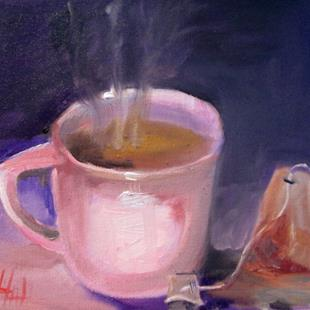 Art: Cup of Tea by Artist Delilah Smith