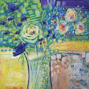 Art: When Life Gifts You Roses - Spring in Your Step Series by Artist Dana Marie