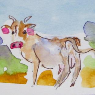 Art: Cow No. 15 by Artist Delilah Smith