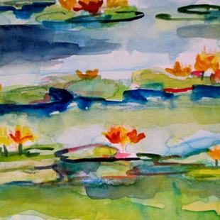 Art: Water Lilies No 2 by Artist Delilah Smith
