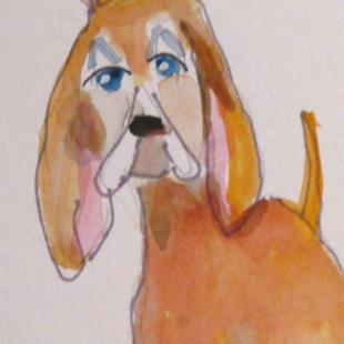 Art: Dog No 4 by Artist Delilah Smith