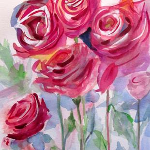 Art: Pink Roses No. 4 by Artist Delilah Smith