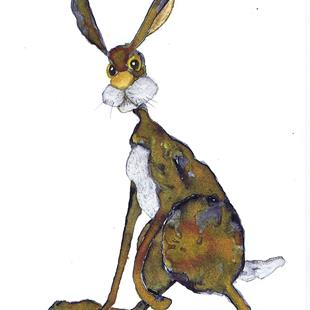 Art: BROWN HARE h4219 by Artist Dawn Barker