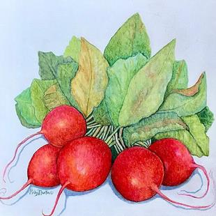 Art: Radishes - sold by Artist Ulrike 'Ricky' Martin