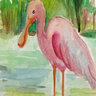 Art: Spoonbill No. 3 by Artist Delilah Smith