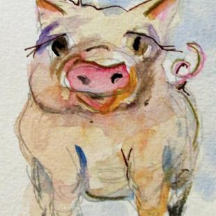 Art: Happy Pig by Artist Delilah Smith