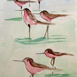 Art: Sandpipers by Artist Delilah Smith