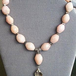 Art: Peruvian Opal and Styerling Silver Necklace by Artist Ulrike 'Ricky' Martin