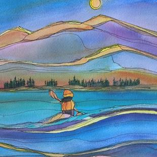 Art: Magic on Water (sold) by Artist Kathy Crawshay