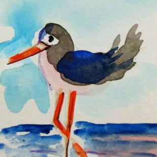 Art: sandpiper No. 2 by Artist Delilah Smith