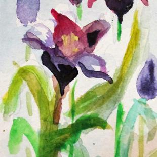Art: Tulip Aceo by Artist Delilah Smith