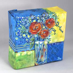 Art: Starry Night Garden Bouquet - Springin Your Step Series by Artist Dana Marie