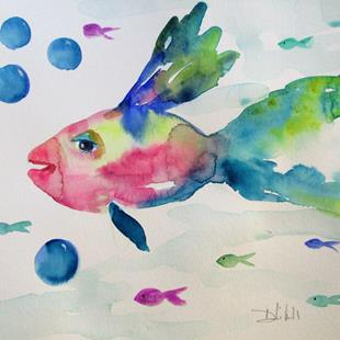 Art: Fish No. 7 by Artist Delilah Smith