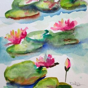 Art: Lily Pond No. 12 by Artist Delilah Smith