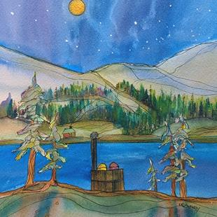Art: Serenity (sold) by Artist Kathy Crawshay
