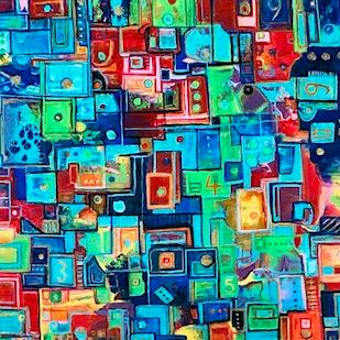 Art: Abstract Shapes by Artist Ulrike 'Ricky' Martin
