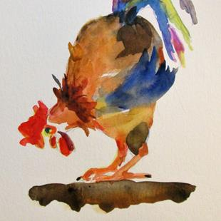 Art: Colorful Rooster by Artist Delilah Smith