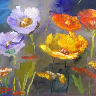 Art: Field of Poppies by Artist Delilah Smith