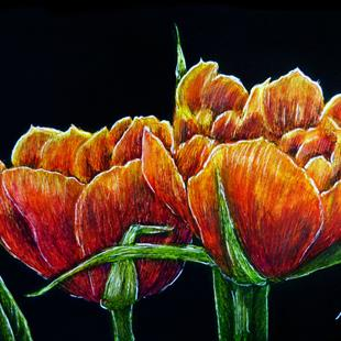 Art: Tulips  (SOLD) by Artist Monique Morin Matson