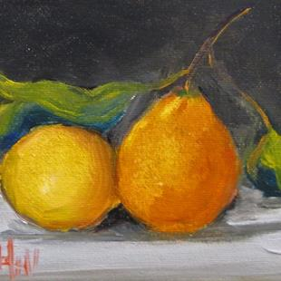 Art: Orange and Lemon Still Life by Artist Delilah Smith