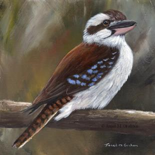Art: Laughing Kookaburra No 3 by Artist Janet M Graham