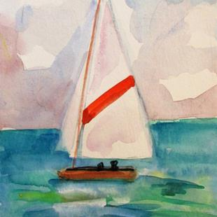 Art: Sailboat No. 14 by Artist Delilah Smith