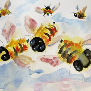 Art: The Buzz of Bees by Artist Delilah Smith