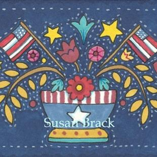 Art: AMERICANA APPLIQUE BOWL by Artist Susan Brack