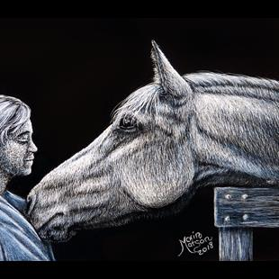 Art: Love of a Horse by Artist Monique Morin Matson