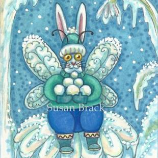 Art: FLUTTERBUN RABBIT SERIES - WINTER WONDERLAND by Artist Susan Brack