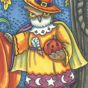 Art: HOOT FOR HALLOWEEN by Artist Susan Brack