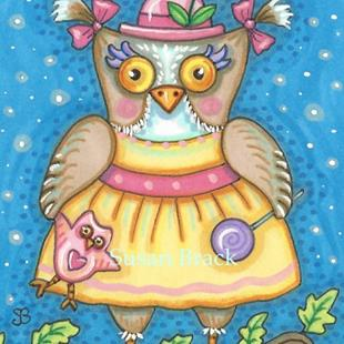Art: LITTLE OWLIVIA by Artist Susan Brack