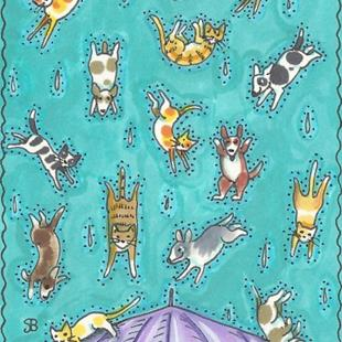 Art: RAINING CATS AND DOGS by Artist Susan Brack
