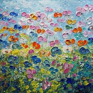 Art: Blooming Wild Flowers by Artist LUIZA VIZOLI