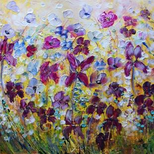 Art: PANSY FLOWERS FIELD by Artist LUIZA VIZOLI