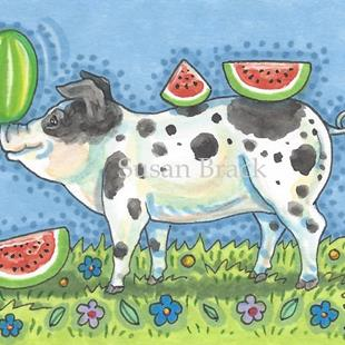 Art: A WATERMELON WONDER by Artist Susan Brack