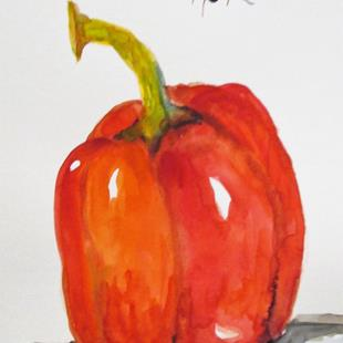 Art: Red Pepper by Artist Delilah Smith