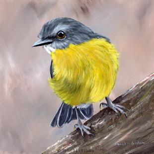 Art: Eastern Yellow Robin No 5 by Artist Janet M Graham