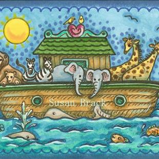 Art: NOAH'S ARK Mini by Artist Susan Brack