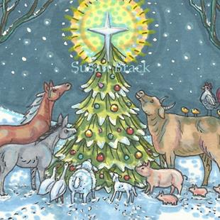 Art: SILENT NIGHT 2 by Artist Susan Brack