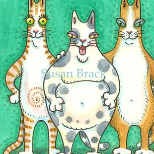Art: HISS N FITZ - PURRS COME IN ALL SHAPES AND SIZES cropped by Artist Susan Brack