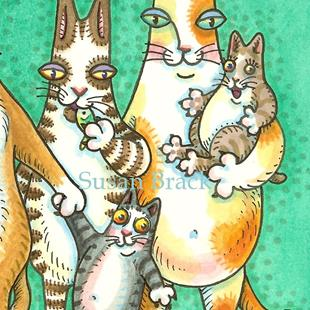 Art: HISS N FITZ - PURRS COME IN ALL SHAPES AND SIZES cropped 2 by Artist Susan Brack