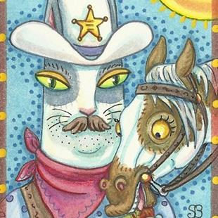 Art: HISS N' FITZ - A NEW SHERIFF IN TOWN by Artist Susan Brack