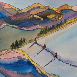 Art: Long Winter Shadows (sold) by Artist Kathy Crawshay