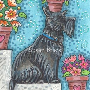 Art: SIT - Scottie by Artist Susan Brack