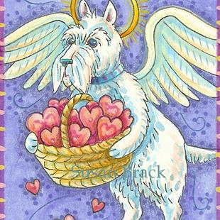 Art: BASKET OF HEARTS by Artist Susan Brack